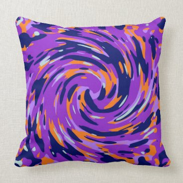 Abstract organic pattern throw pillow