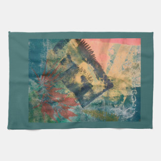 abstract organic shapes hand towel