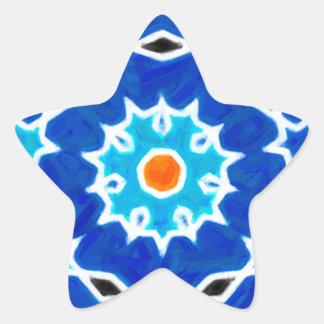 Abstract oriental Design Star Sticker
