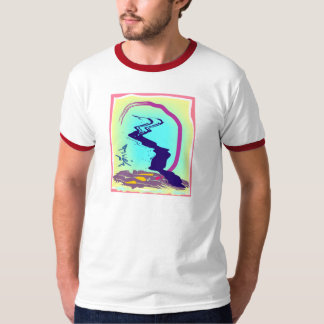 Abstract Oriental Digital Painting T-shirt
