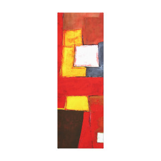 Abstract Original Painting Modern Squares Red Canvas Print