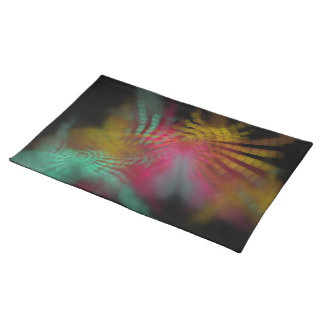abstract ornament on black placemat
