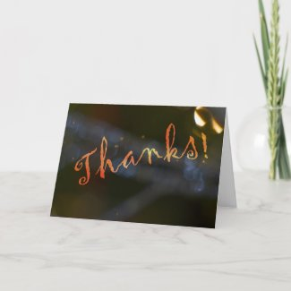 Abstract Ornament Thank You Card card