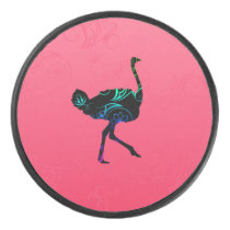 Abstract Ostrich Hockey Puck