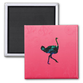 Abstract Ostrich Magnet