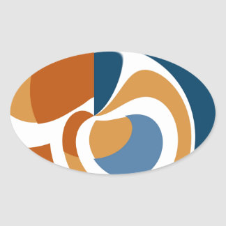 Abstract Oval Sticker