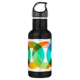 Abstract Overlapping Loops Water Bottle