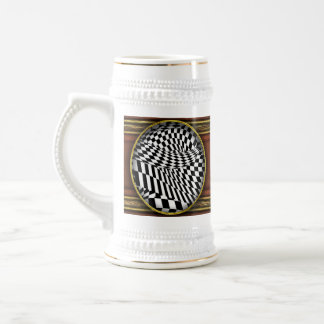 Abstract - Ow my eyes 18 Oz Beer Stein