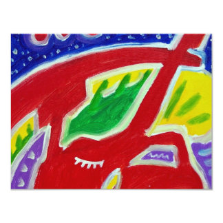 Abstract Owl by Piliero Card