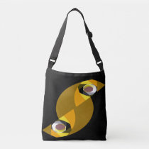 ABSTRACT OWL CROSSBODY BAG