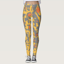 Abstract Owl Feathers by JP Choate Leggings