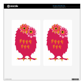 Abstract Owl Kindle Fire Skins