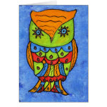 Abstract Owl Notecard Stationery Note Card