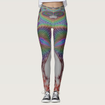 Abstract owl perspective leggings