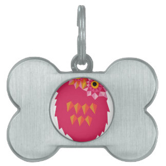 Abstract Owl Pet Tag