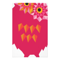 Abstract Owl Stationery