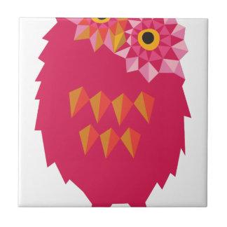 Abstract Owl Tile