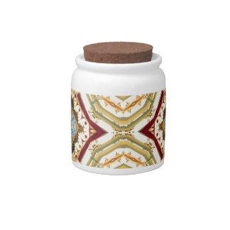 Abstract Pagoda Pattern Candy Dish