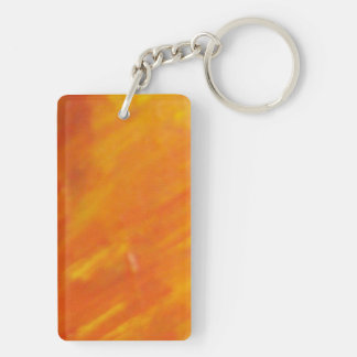Abstract Pains Double-Sided Rectangular Acrylic Keychain