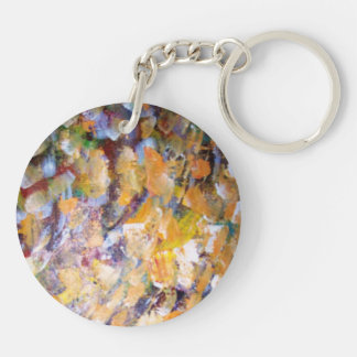 Abstract Pains Double-Sided Round Acrylic Keychain