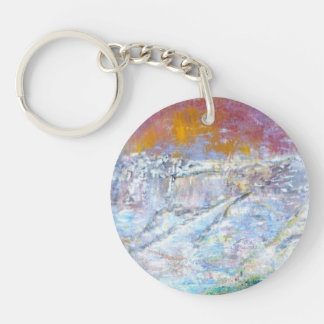 Abstract Pains Round Acrylic Key Chain