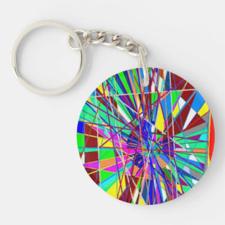 Abstract Pains Acrylic Key Chains