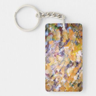 Abstract Pains Single-Sided Rectangular Acrylic Keychain