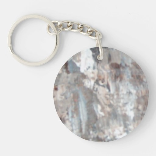 Abstract Pains Single-Sided Round Acrylic Keychain
