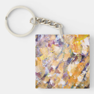 Abstract Pains Single-Sided Square Acrylic Keychain