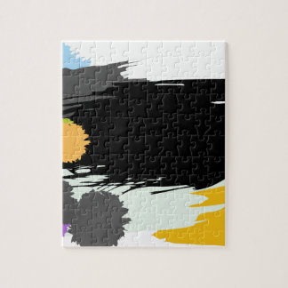 Abstract Paint Blotches Spatter Jigsaw Puzzles