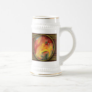 Abstract - Paint - In a state of flux Beer Stein