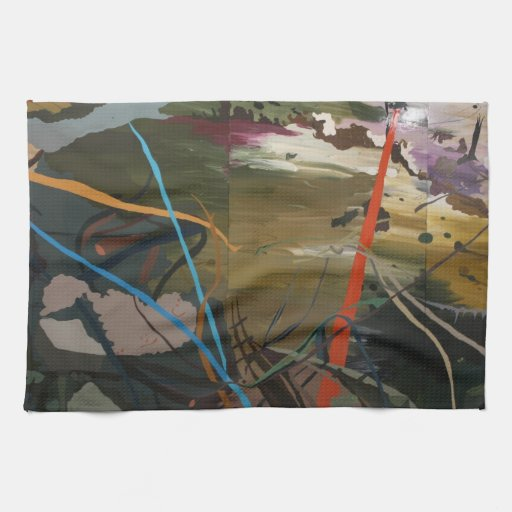 Abstract - paint kitchen towel