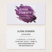Abstract Paint Logo Business Card