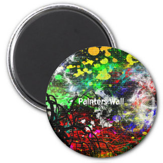 Abstract Paint Magnet
