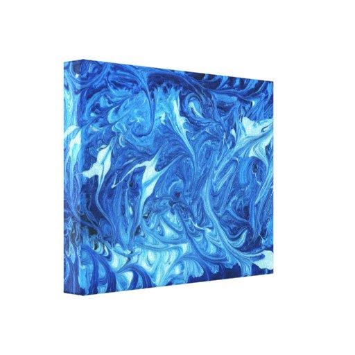 Abstract - Paint - Ocean Deep Canvas Print