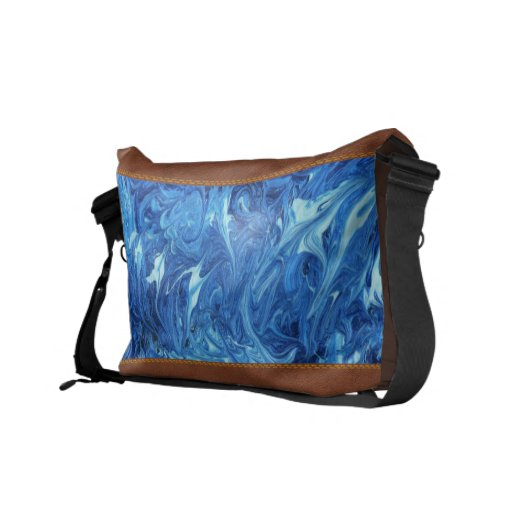 Abstract - Paint - Ocean Deep Courier Bags