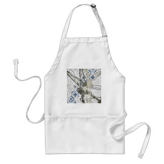 Abstract Paint On Pattern Adult Apron