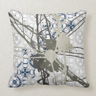 Abstract Paint On Pattern Pillow