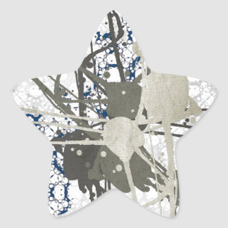 Abstract Paint On Pattern Star Sticker