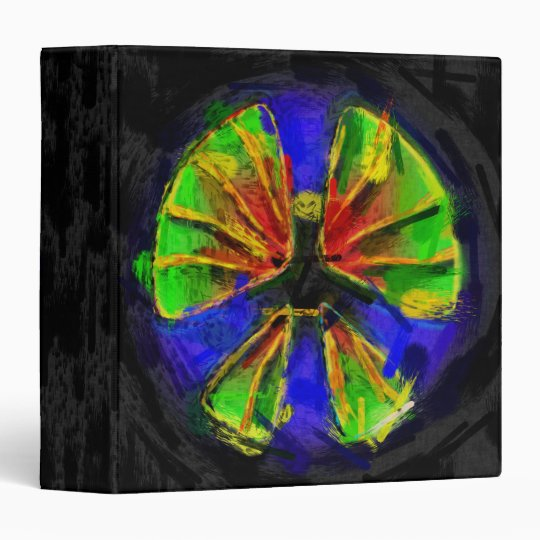 Abstract Paint Peace Sign Binder