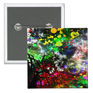 Abstract Paint Pinback Button