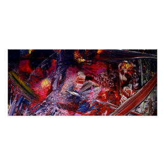 Abstract Paint Poster