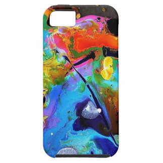Abstract Paint Spatter iPhone SE/5/5s Case