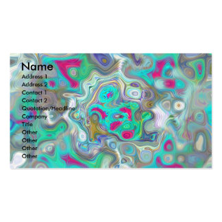 Abstract Paint Spill Business Card