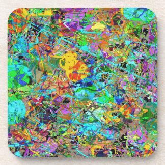 Abstract Paint Splash Coaster