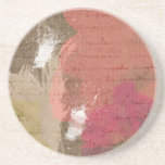Abstract Paint Splats in Autumn Colors Coaster