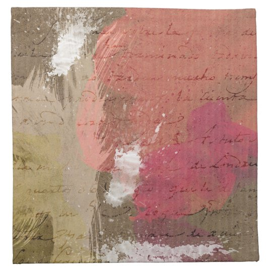 Abstract Paint Splats in Autumn Colors Napkin