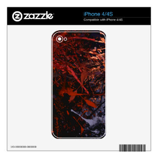 Abstract Paint Splatter Art Decals For The iPhone 4S