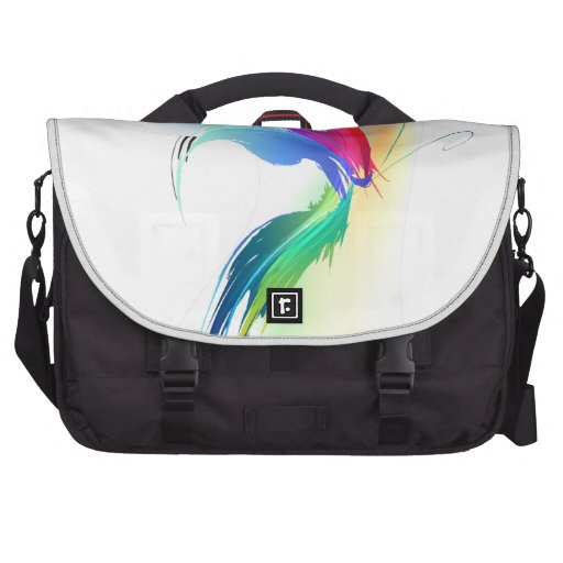 Abstract Paint Splatter Butterfly Bags For Laptop