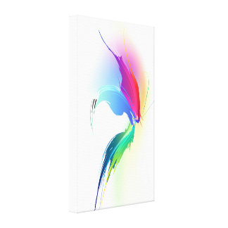 Abstract Paint Splatter Butterfly Canvas Print